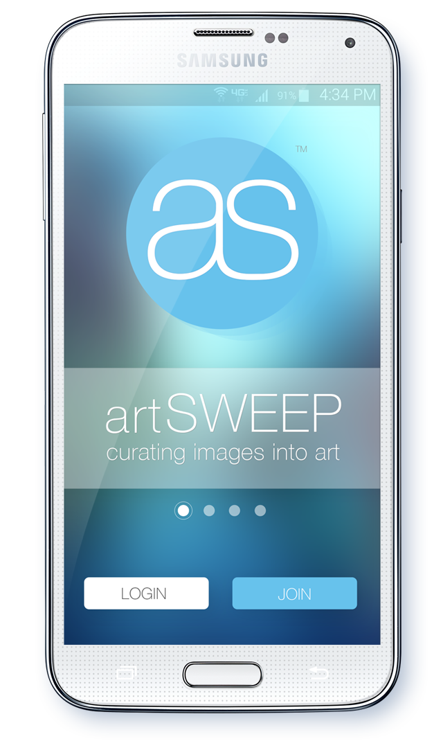 Main artSWEEP home screen